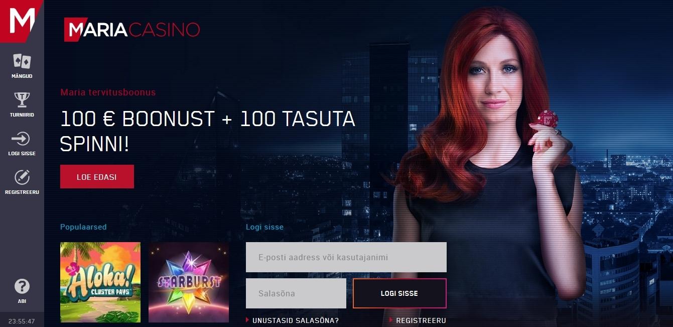 Maria Casino - mida sellest online kasiinost leiab ja kuidas saada
