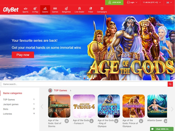 OlyBet Casino Online Casino Review