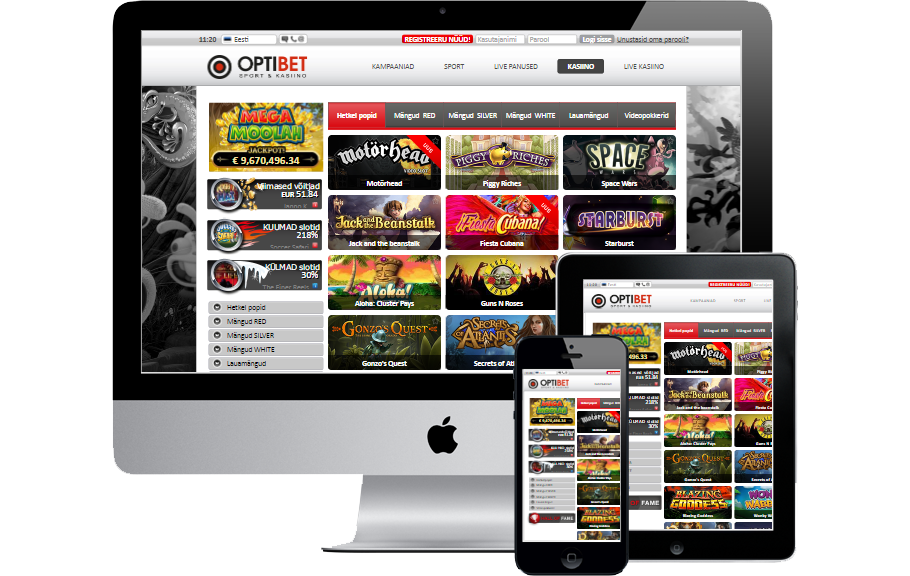 OptiBet Kasiino - €1000 Boonus & iPhone X loos