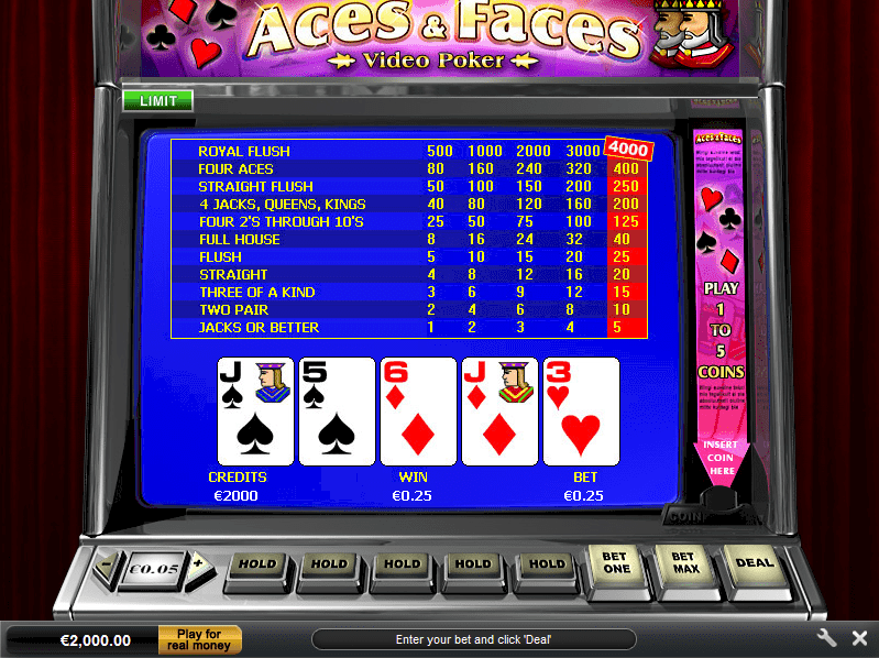 Aces and Faces tasuta videopokker